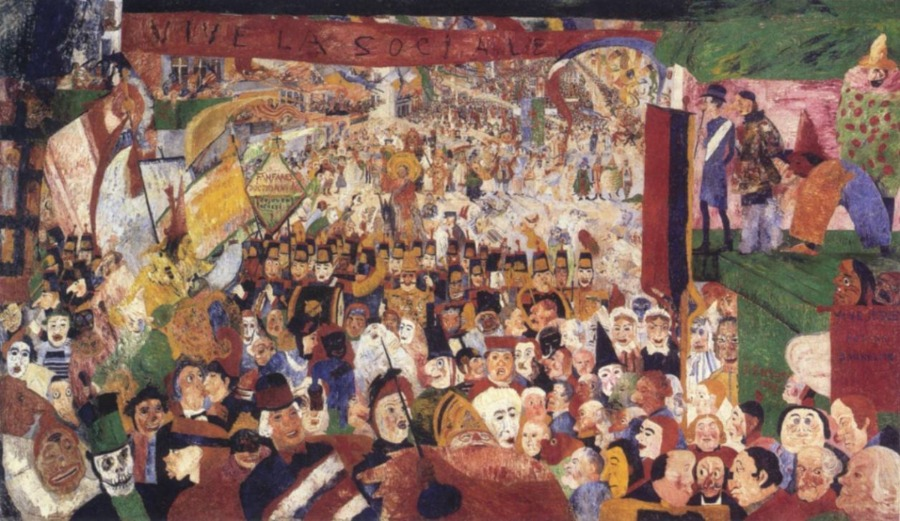 """""""De Intrede van Christus in Brussel in 1889"""" - James Ensor"""