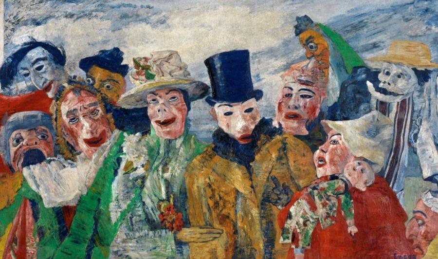 """""""L'Intrigue"""", 1890 - James Ensor"""