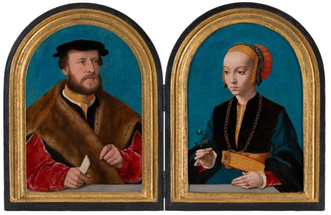 Portretten van Jakob Omphalius en Elisabeth Bellinghausen - Bartholomäus Bruyn de Oude