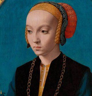 Elisabeth Bellinghausen, geschilderd door Bartholomäus Bruyn de Oude
