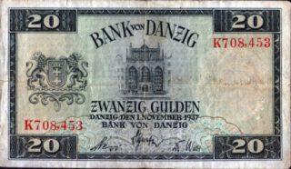 Bankbiljet: 20 Danziger gulden