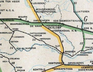 Deel van het tracé Amersfoort-Kesteren, de Kersenlijn