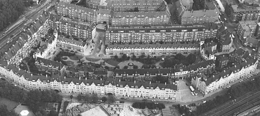 Luchtfoto van de Zaanhof
