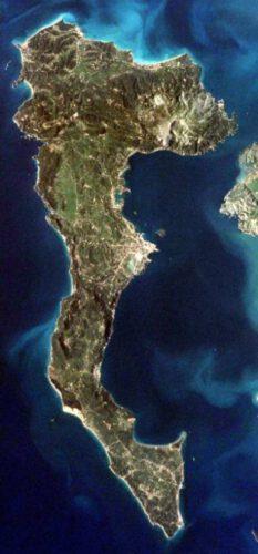 Korfoe vanaf ISS