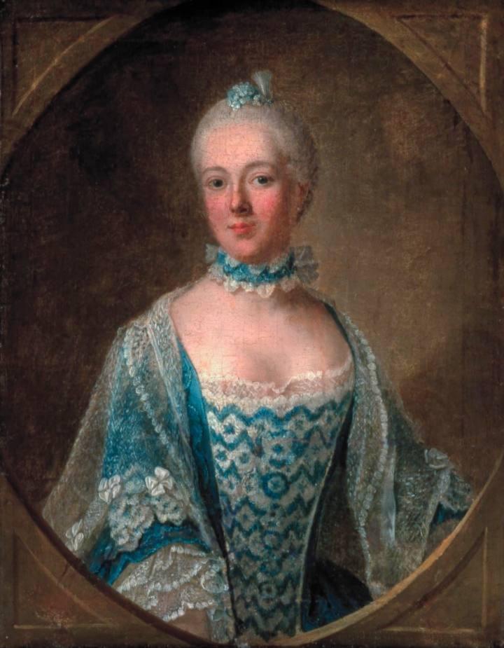Belle van Zuylen - Portret door Guillaume de Spinny, 1759