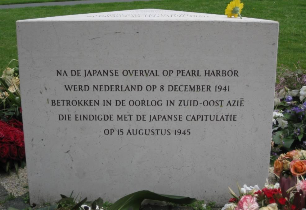 Tekst bij het Indisch Monument in Den Haag
