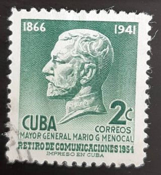 Cubaanse postzegel met daarop de beeltenis van Mario Menocal