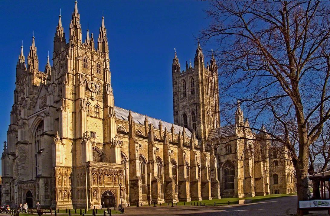De kathedraal van Canterbury, de zetel van de aartsbisschop van Canterbury