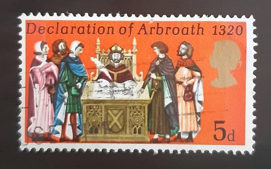 Britse postzegel ter herinnering aan de 'Declaration of Arbroath' van 1320