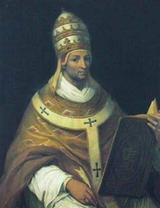 Paus Johannes XXII - Negentiende-eeuws portret door Henri Auguste César Serrur
