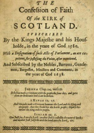 Scots Confession, de Schotse Geloofsbelijdenis
