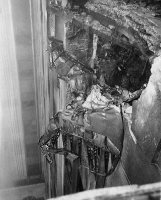 Delen van de bommenwerper in het Empire State Building