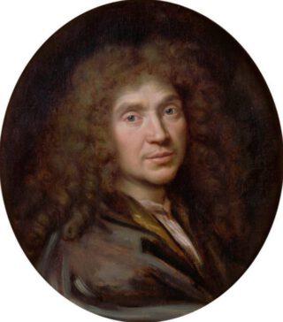 Portret van Molière door Pierre Mignard, ca. 1658