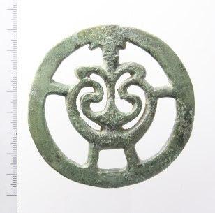Riemverdeler van Romeins paardentuig, gevonden in de gemeente Buren, Gelderland