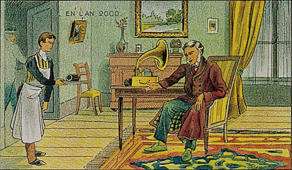 En L'An 2000 - Berichten ontvangen met de fonograaf