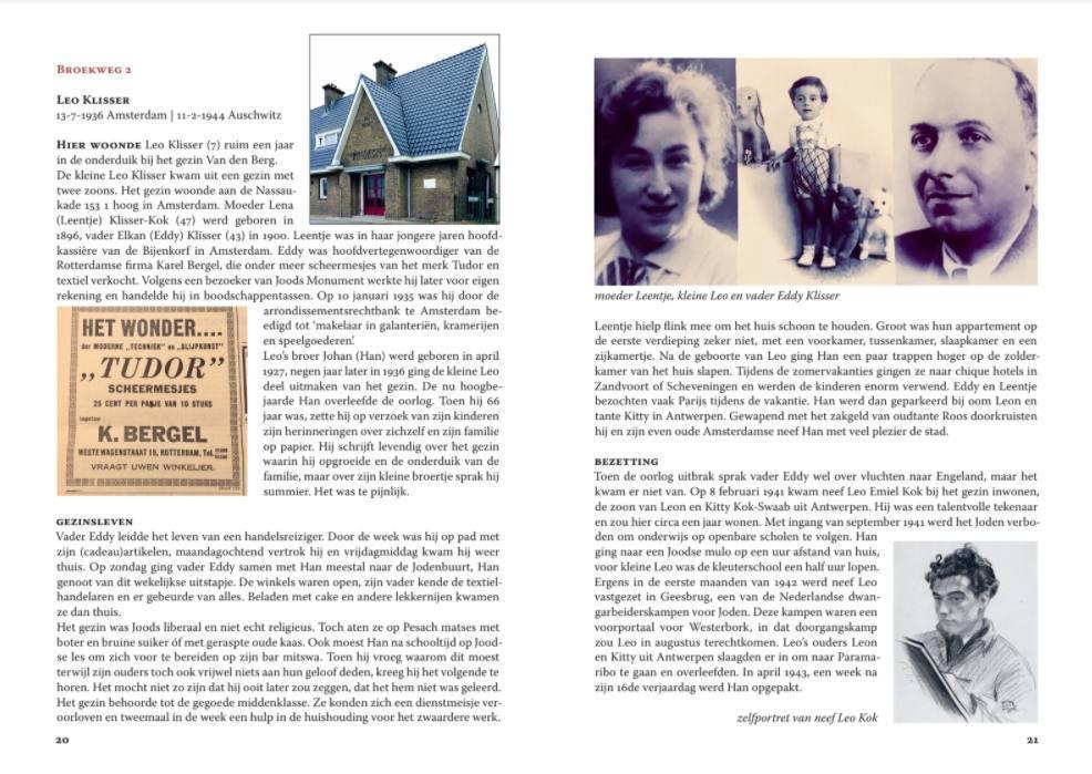 Pagina uit het boek van Soesja Citroen over Leo Klisser - Klik voor een PDF met meer pagina's