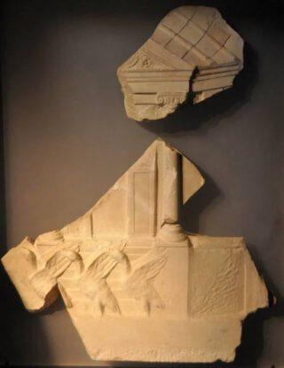 De ganzen van het Capitool (reliëf uit het museum van Ostia)