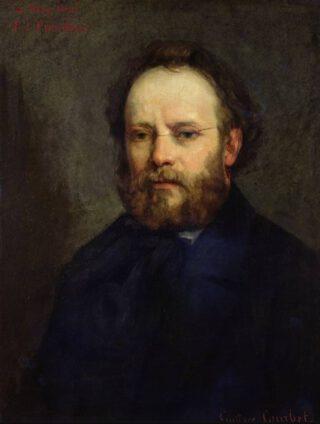 Pierre-Joseph Proudhon - Portret door door Gustave Courbet, 1865