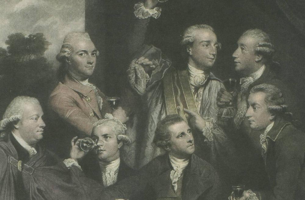Enkele leden van de Society of Dilettanti