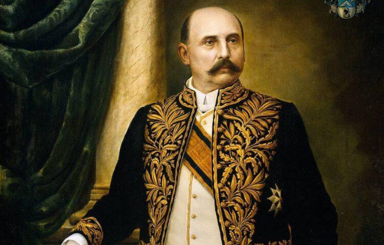 Generaal Jo van Heutsz als gouverneur-generaal - Geschilderd door Hannké, 1909