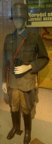 Uniform van een 'Oberleutnant' van de Oostenrijkse 'Volkswehr'