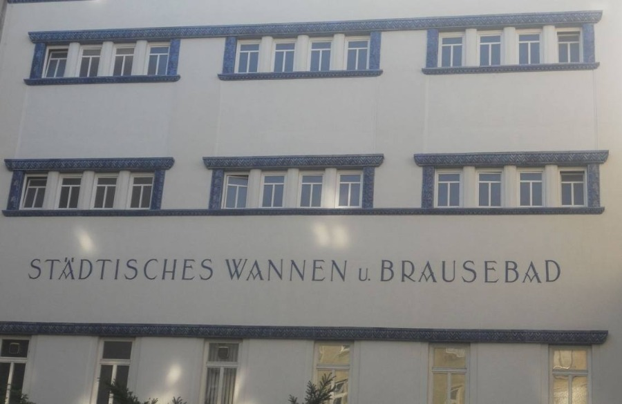 In 1926 gebouwde locatie voor Tröpferlbader in de Apostelgasse in Wenen