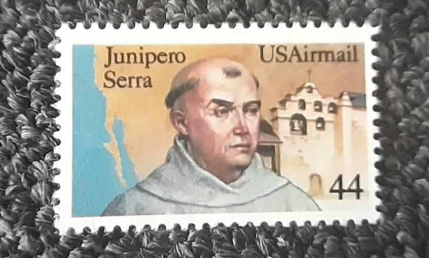Postzegel ter herinnering aan Junípero Serra