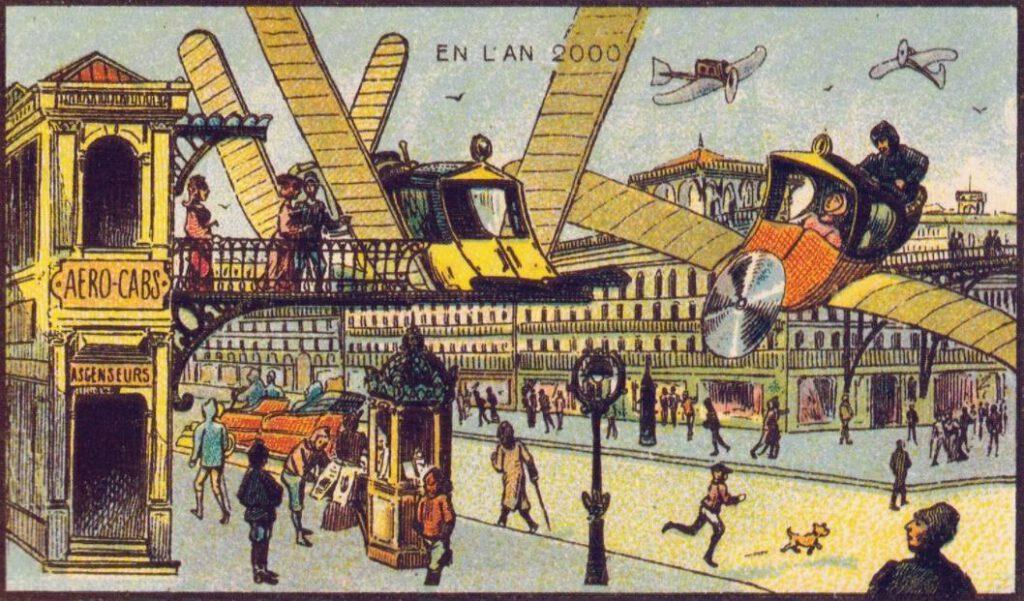 En L'An 2000 - Opstapplaats voor lucht-taxi's