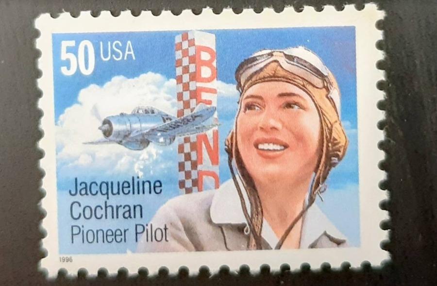 Postzegel ter ere van Jacqueline Cochran