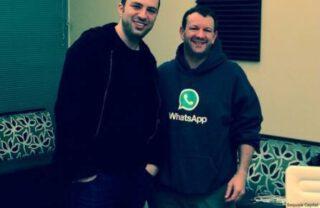 Brian Acton en WhatsApp co-founder Jan Koum, 2014