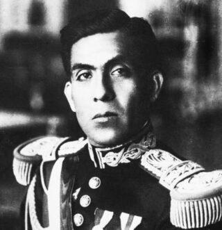 De Peruaanse president Luis Miguel Sánchez Cerro