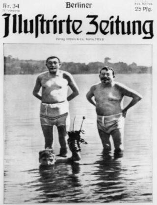 Uitsnede op de voorpagina van de Berliner Illustrirte Zeitung