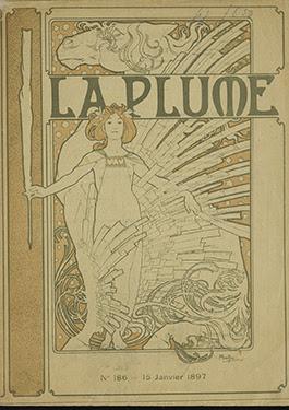 Alphonse Mucha, omslag voor het tijdschrift La plume, Parijs, Allard Pierson, Universiteit van Amsterdam