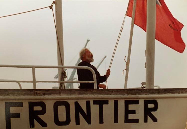 Willem Merk op de Frontier. Uit: De vluchtende Hollander