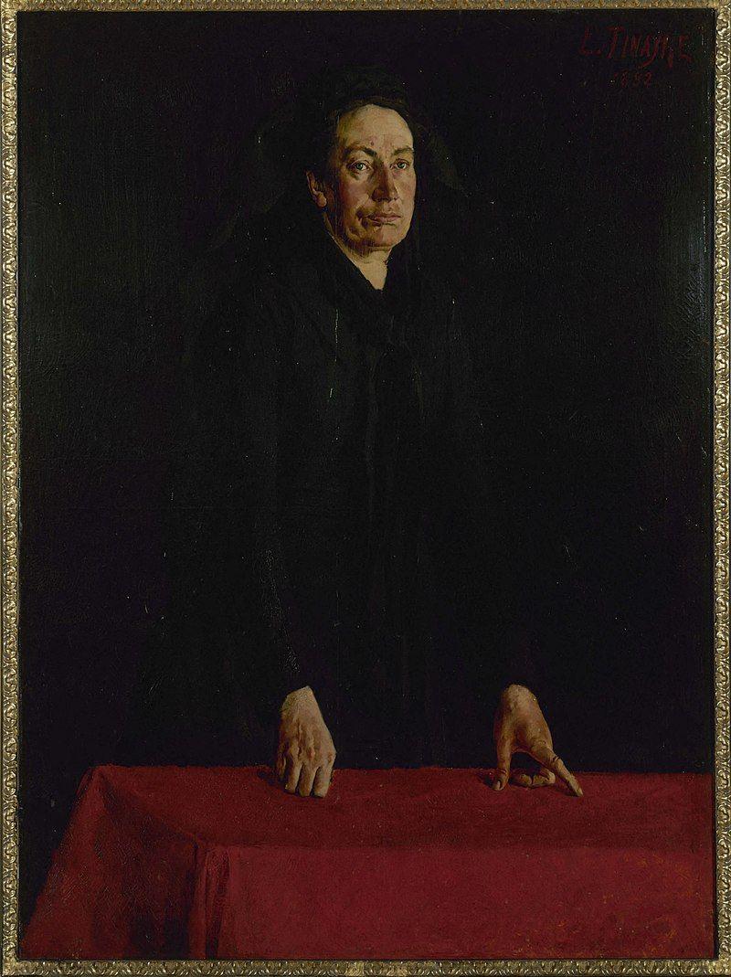Louise Michel geportretteerd door Louis Tinayre, 1882