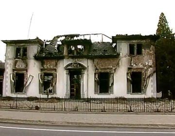 Het afgebrande pension in Ellecom