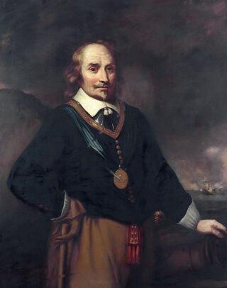 Portret van Maarten Tromp Naar Jan Lievens