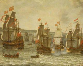 Slag bij de Hoofden - Abraham Willaerts