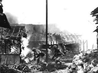 Amerikaanse mariniers tijdens de Slag om Saipan