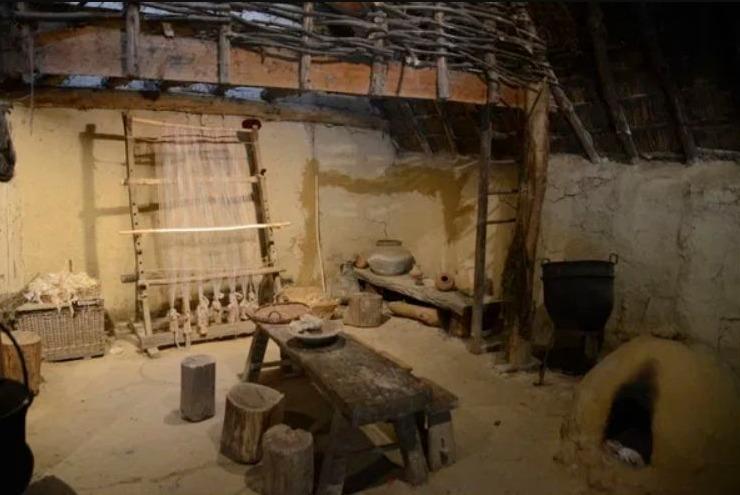 Interieur van een late La Tène-boerderij (Archéosite, Aubechies)