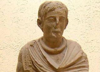 De Gallische krijger uit Vachères (kopie uit het Museo nazionale della civiltà romana, Rome)