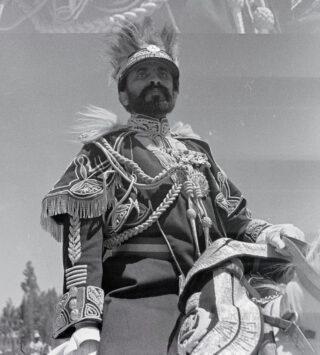 De Ethiopische keizer keizer Haile Selassie in 1934