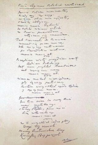 Tekst van het volkslied van Polen