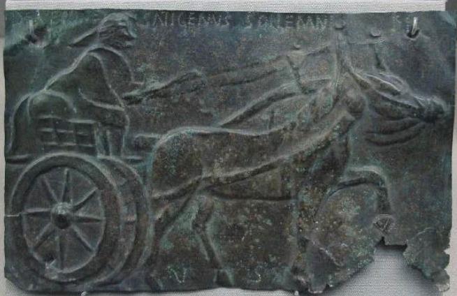 Gallische paard en wagen (Musée des Antiquités nationales, St-Germain-en-Laye)