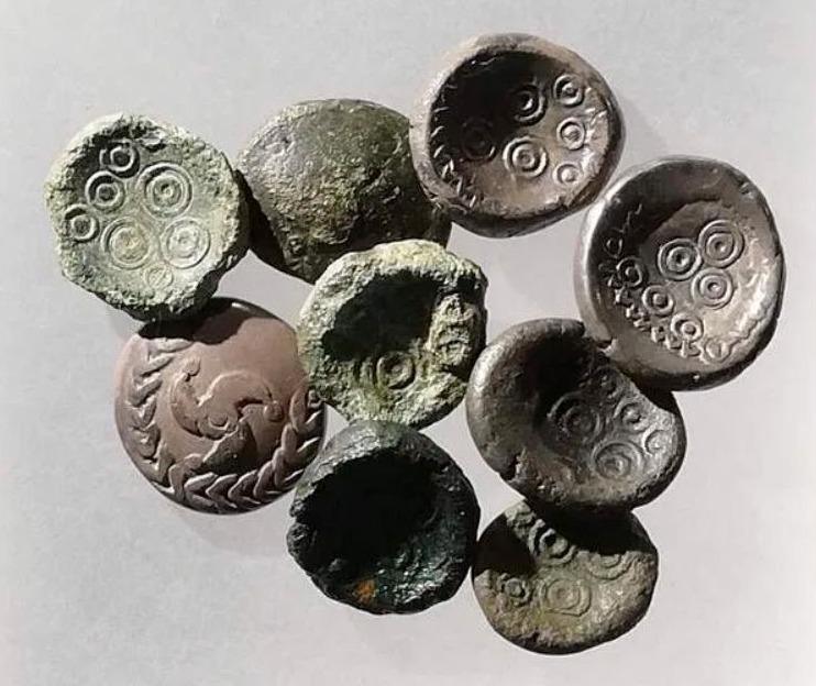 Keltische munten (Museum van Xanten)