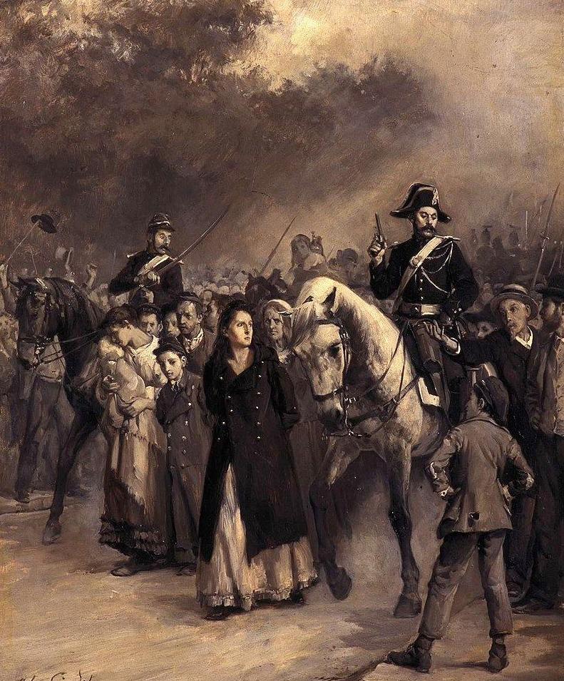 Arrestatie Louise Michel na de Parijse Commune, mei 1871 - Jules Girardet