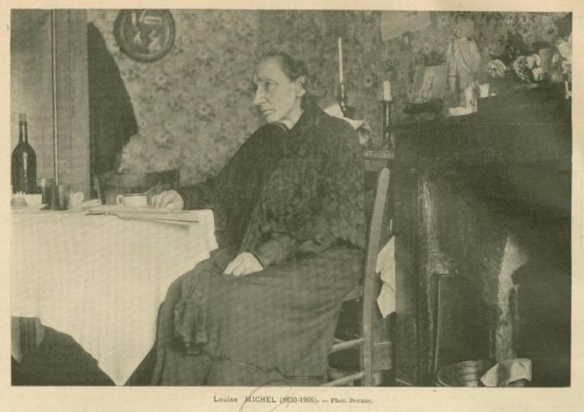 Louise Michel op oudere leeftijd, in haar woning