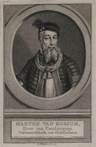Portret van Maarten van Rossum, Jacob Houbraken, naar Hendrik Pothoven, 1760