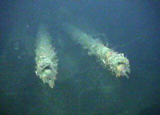 Onderwaterbeeld van de 'Karlsruhe'