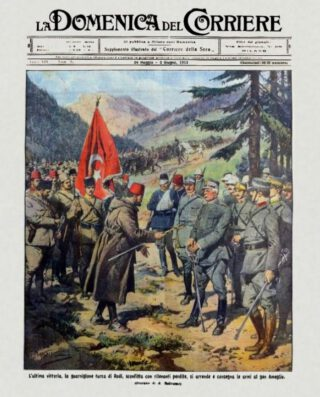 Overgave van een Turks garnizoen aan de Italiaanse generaal Ameglio, bij Psithos, 1912